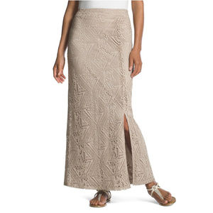 NWT Chico's Hayden Crocheted Maxi Skirt Size 3